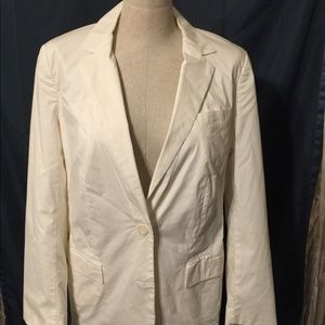 Michael Kors Size 12 Cream 2 Button Blazer